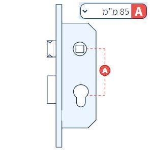 מנעולים חבויים צרים לדלתות - 85 ממ